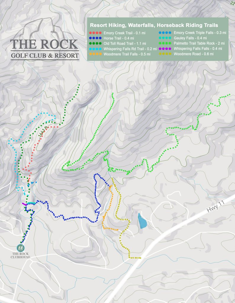 The Rock Golf Club and Resort Hiking Trails