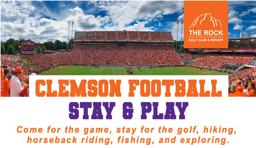 Stay and Play at The Rock This Clemson Football Season